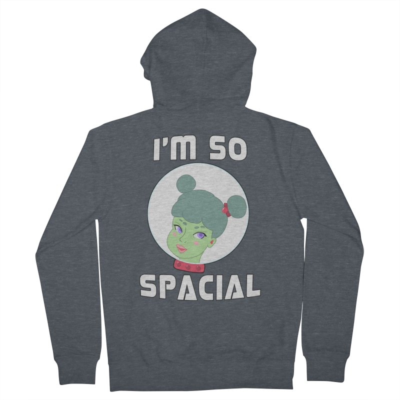 I'm so spacial (color version) Men's French Terry Zip-Up Hoody by Hello Siyi