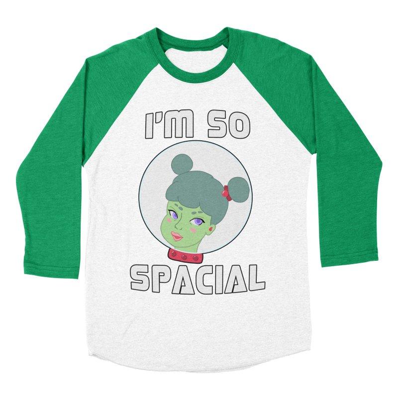 I'm so spacial (color version) Men's Baseball Triblend Longsleeve T-Shirt by Hello Siyi