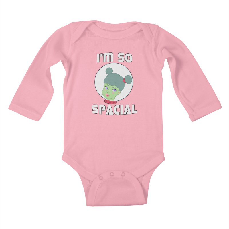 I'm so spacial (color version) Kids Baby Longsleeve Bodysuit by Hello Siyi