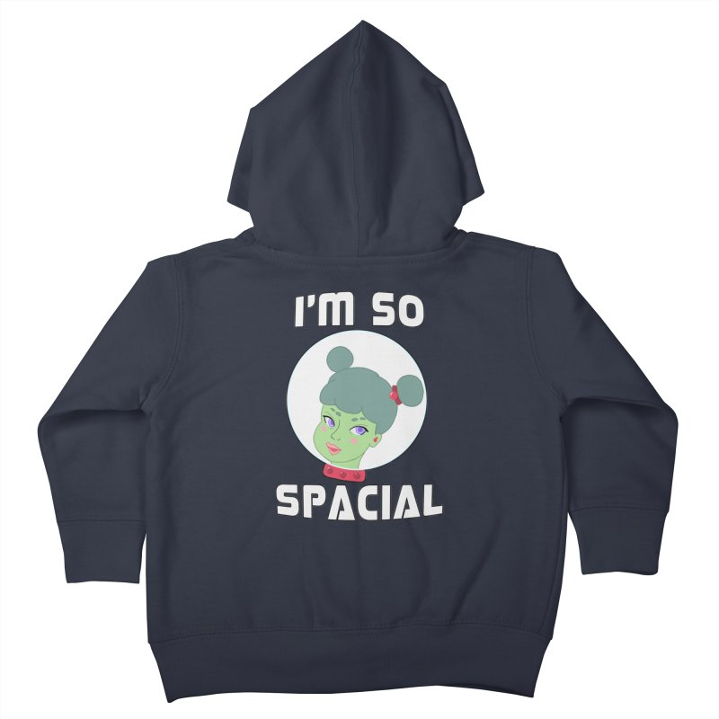 I'm so spacial (color version) Kids Toddler Zip-Up Hoody by Hello Siyi