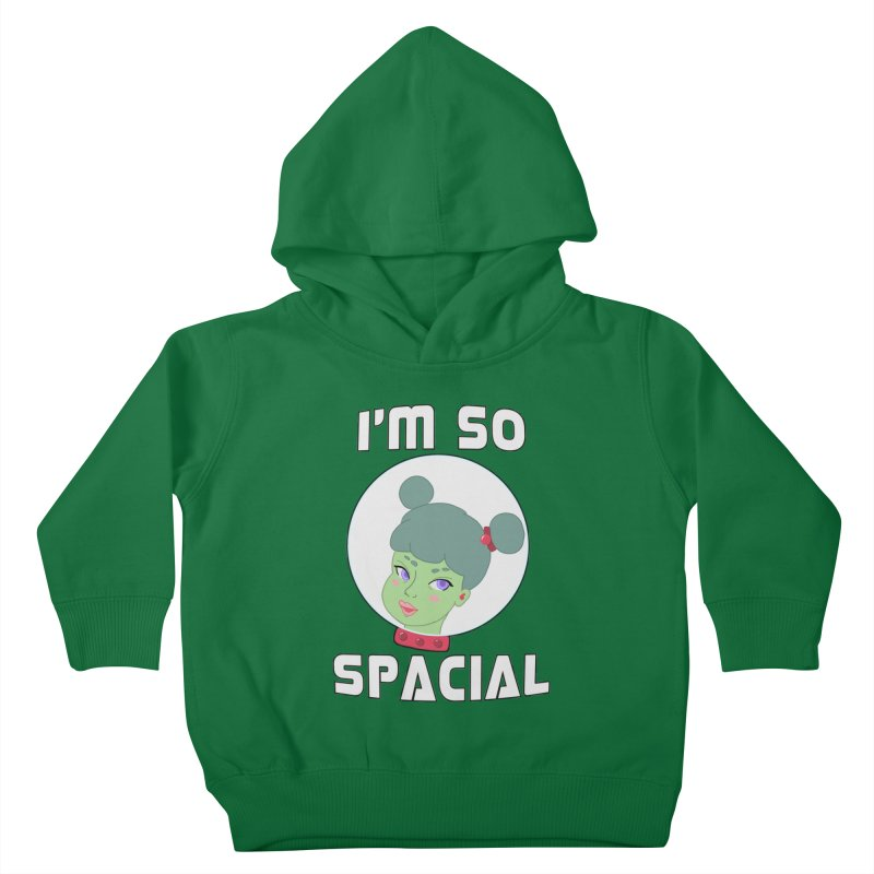 I'm so spacial (color version) Kids Toddler Pullover Hoody by Hello Siyi