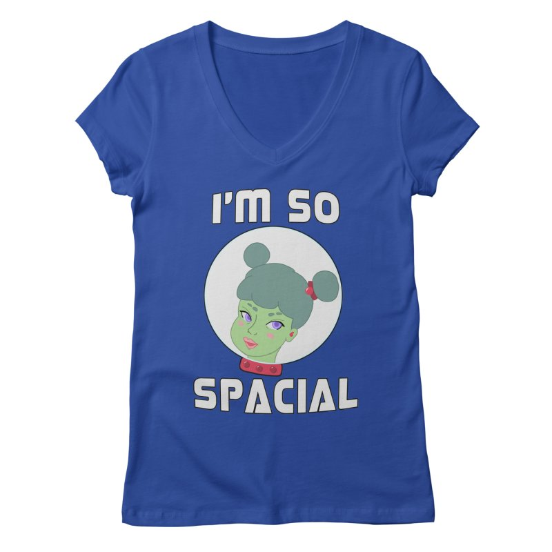 I'm so spacial (color version) Women's Regular V-Neck by Hello Siyi