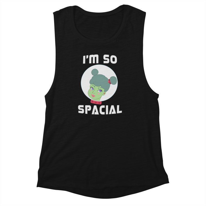 I'm so spacial (color version) Women's Muscle Tank by Hello Siyi