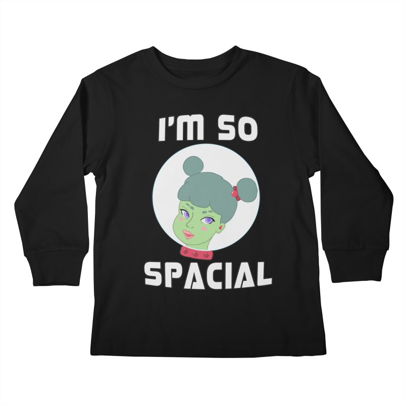 I'm so spacial (color version) Kids Longsleeve T-Shirt by Hello Siyi