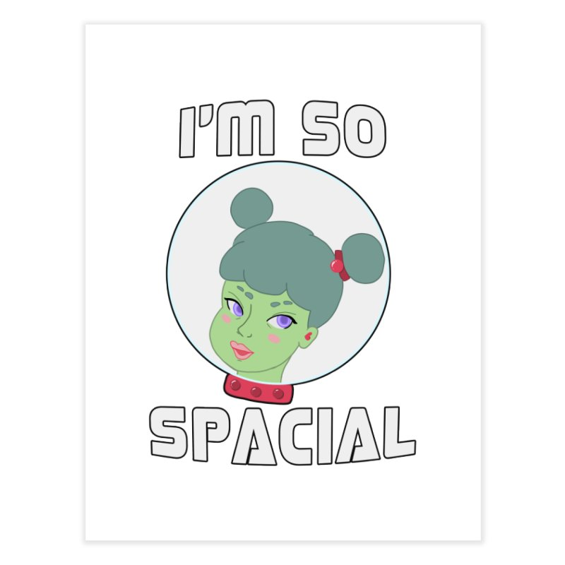 I'm so spacial (color version) Home Fine Art Print by Hello Siyi
