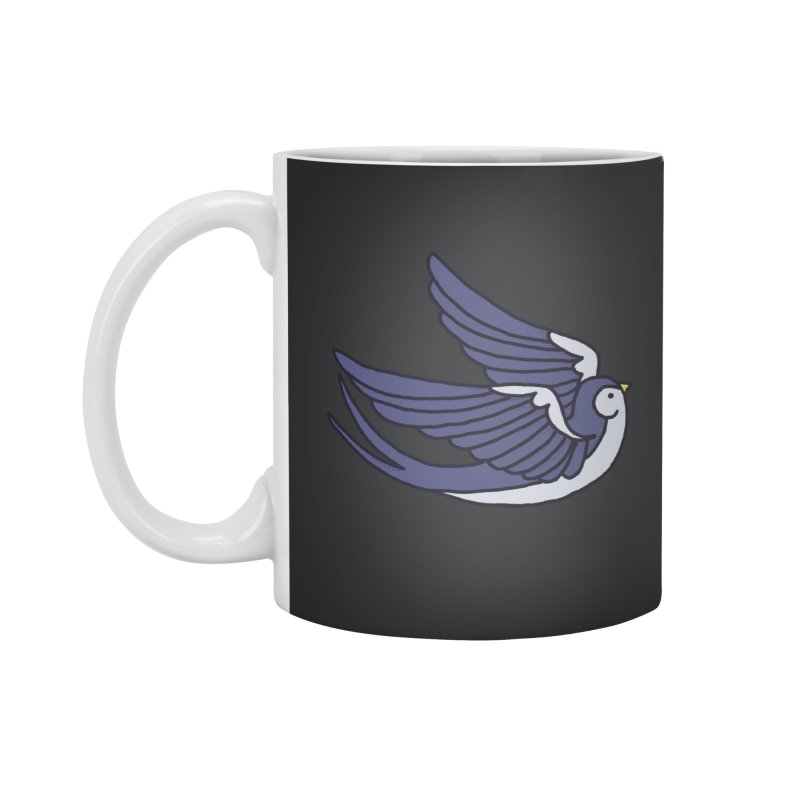 Swallows on black Accessories Mug by Hello Siyi