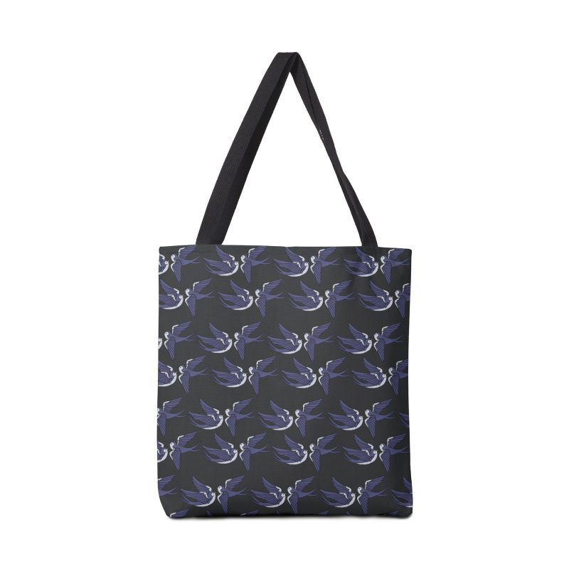 Swallows on black Accessories Bag by Hello Siyi