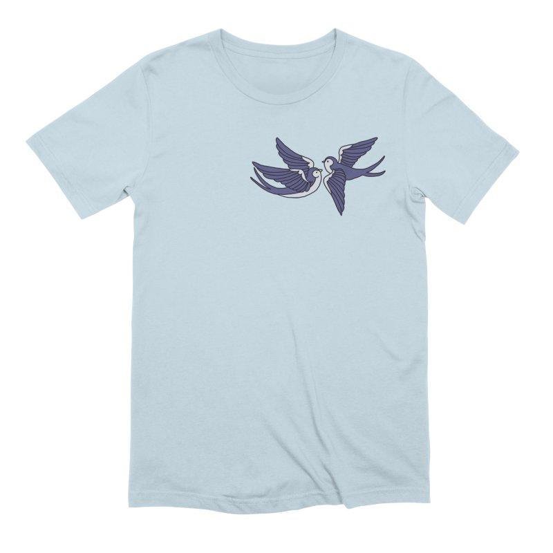 Swallows on black Men's Extra Soft T-Shirt by Hello Siyi
