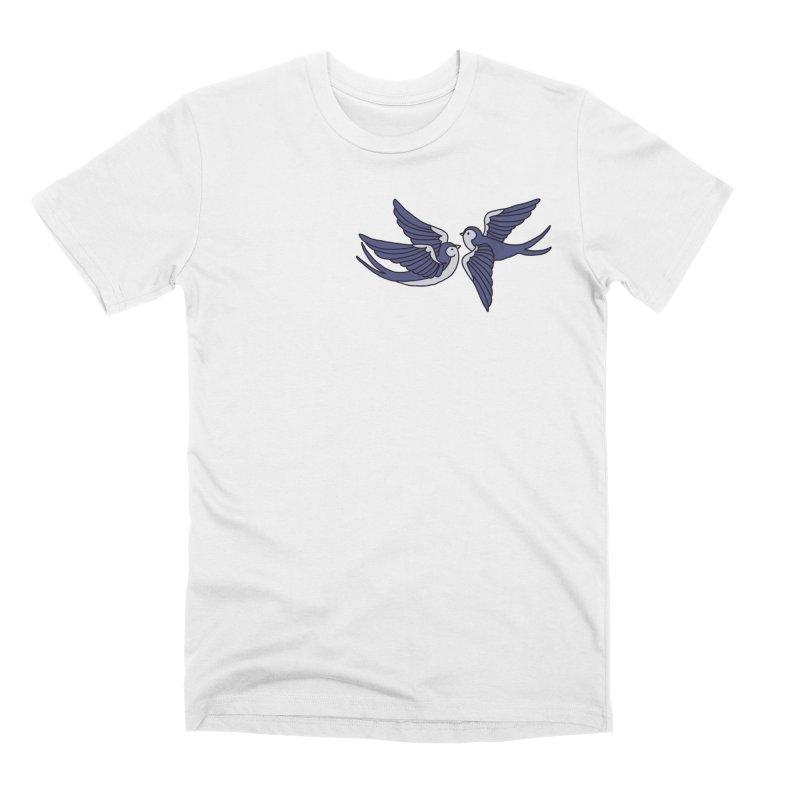 Swallows on black Men's Premium T-Shirt by Hello Siyi