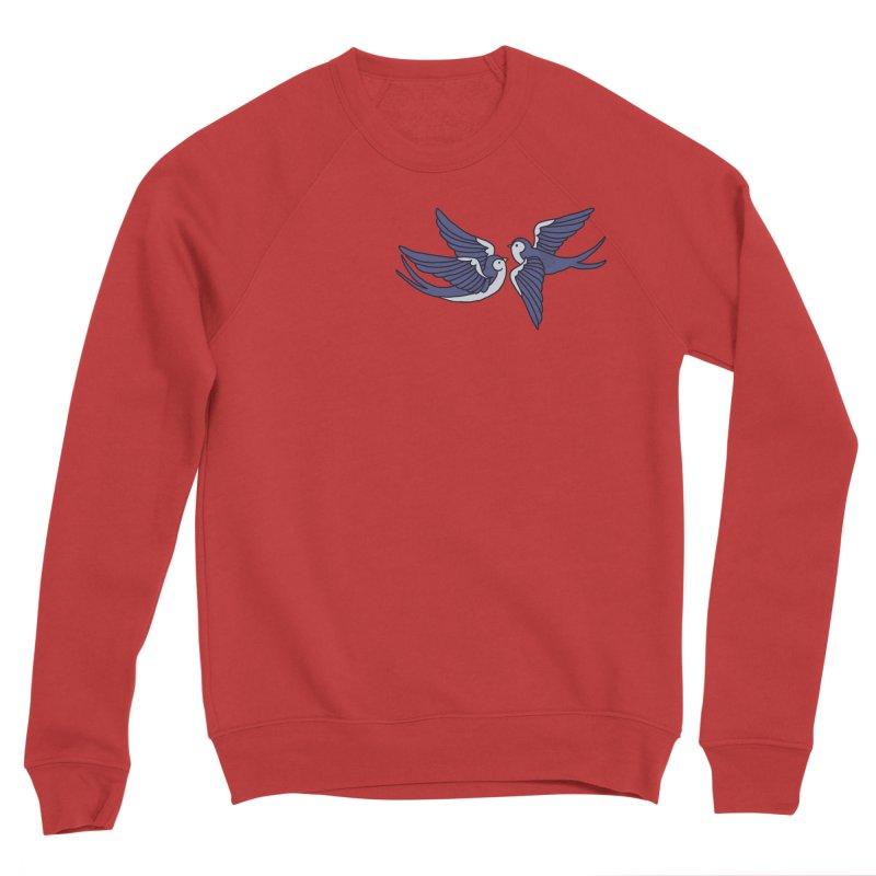 Swallows on black Men's Sponge Fleece Sweatshirt by Hello Siyi