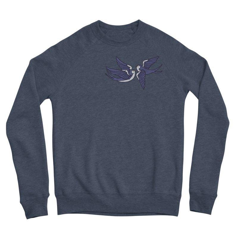 Swallows on black Women's Sponge Fleece Sweatshirt by Hello Siyi