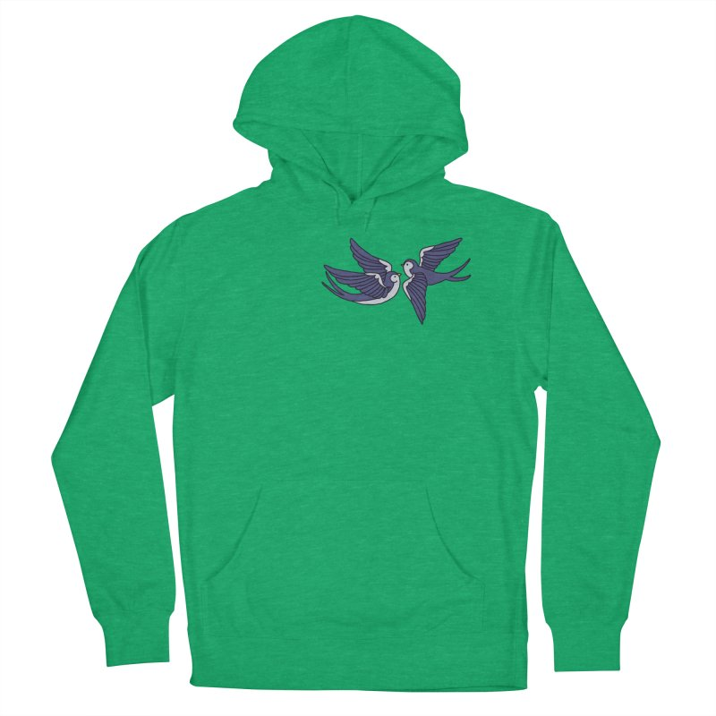 Swallows on black Men's Pullover Hoody by Hello Siyi