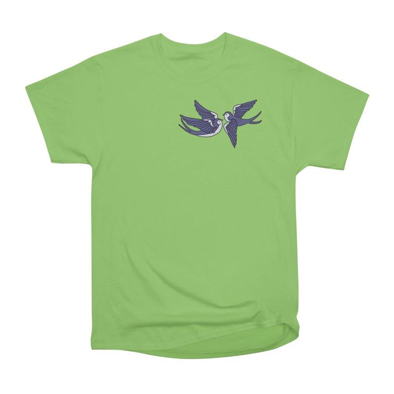 Swallows on black Women's Heavyweight Unisex T-Shirt by Hello Siyi