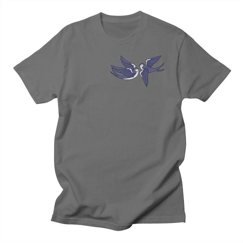 Swallows on black Men's Regular T-Shirt by Hello Siyi