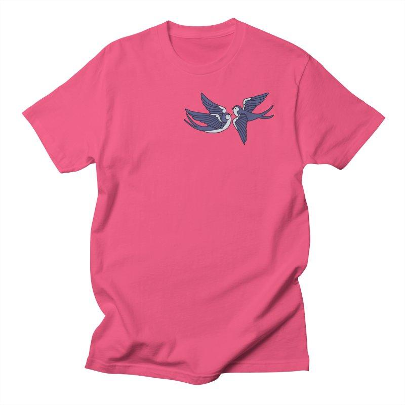 Swallows on black Women's Regular Unisex T-Shirt by Hello Siyi