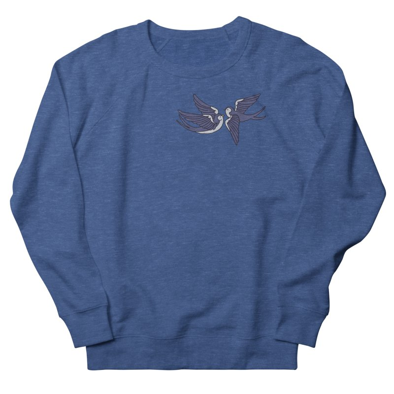 Swallows on black Women's French Terry Sweatshirt by Hello Siyi