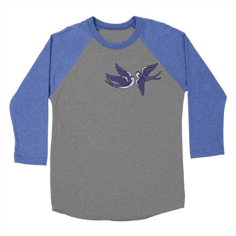 Swallows on black Women's Baseball Triblend Longsleeve T-Shirt by Hello Siyi