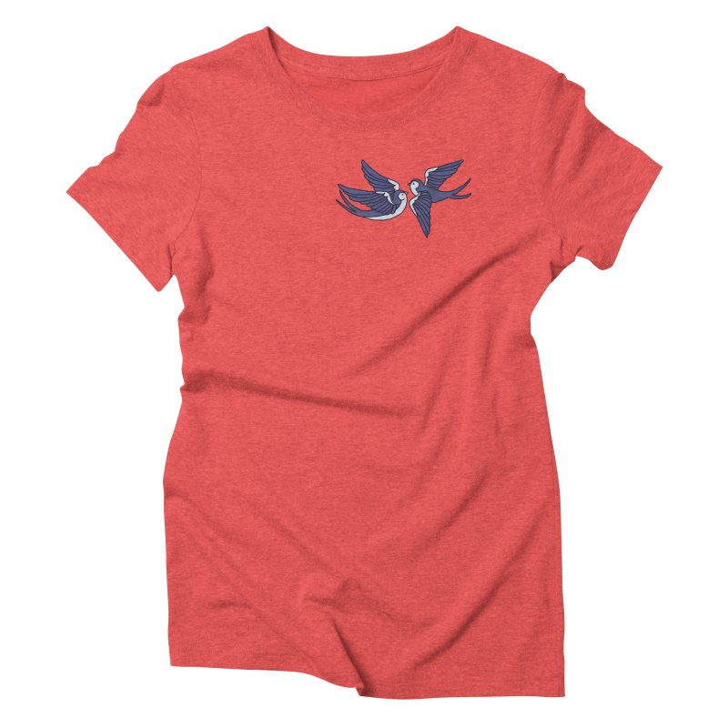 Swallows on black Women's Triblend T-Shirt by Hello Siyi
