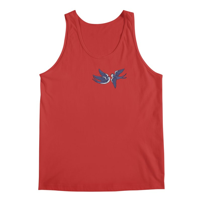Swallows on black Men's Regular Tank by Hello Siyi