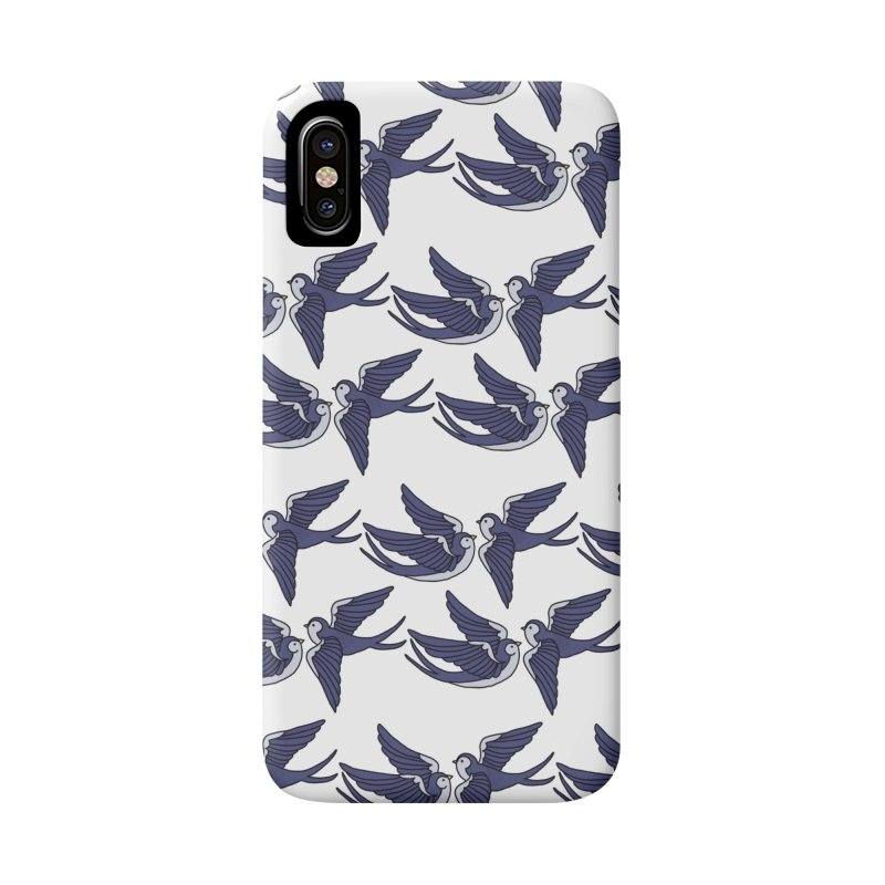 Swallows on white Accessories Phone Case by Hello Siyi