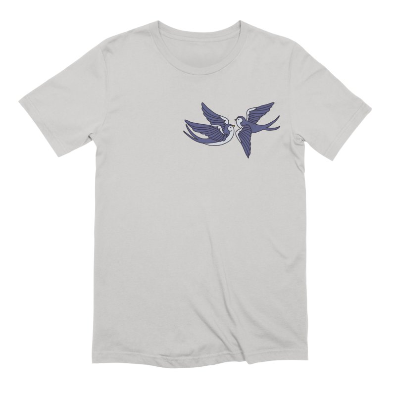 Swallows on white Men's Extra Soft T-Shirt by Hello Siyi
