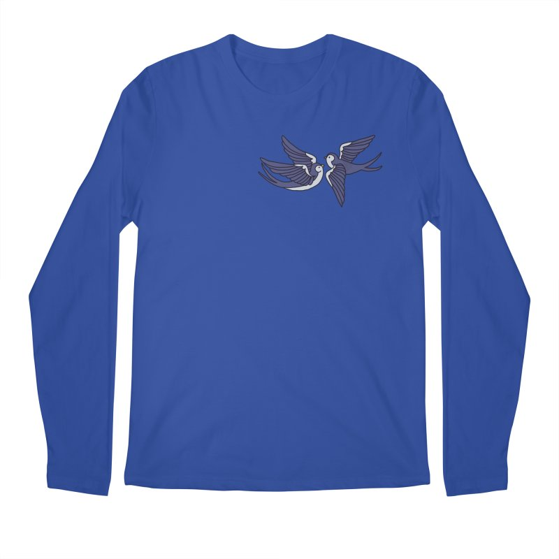 Swallows on white Men's Regular Longsleeve T-Shirt by Hello Siyi