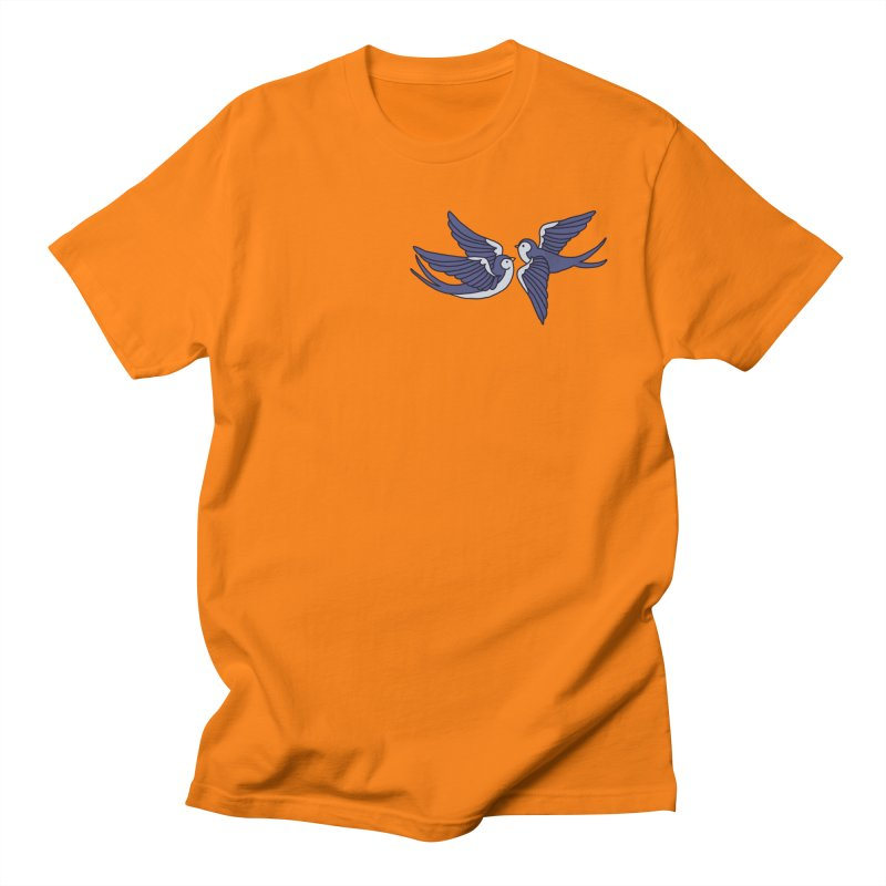 Swallows on white Women's Regular Unisex T-Shirt by Hello Siyi
