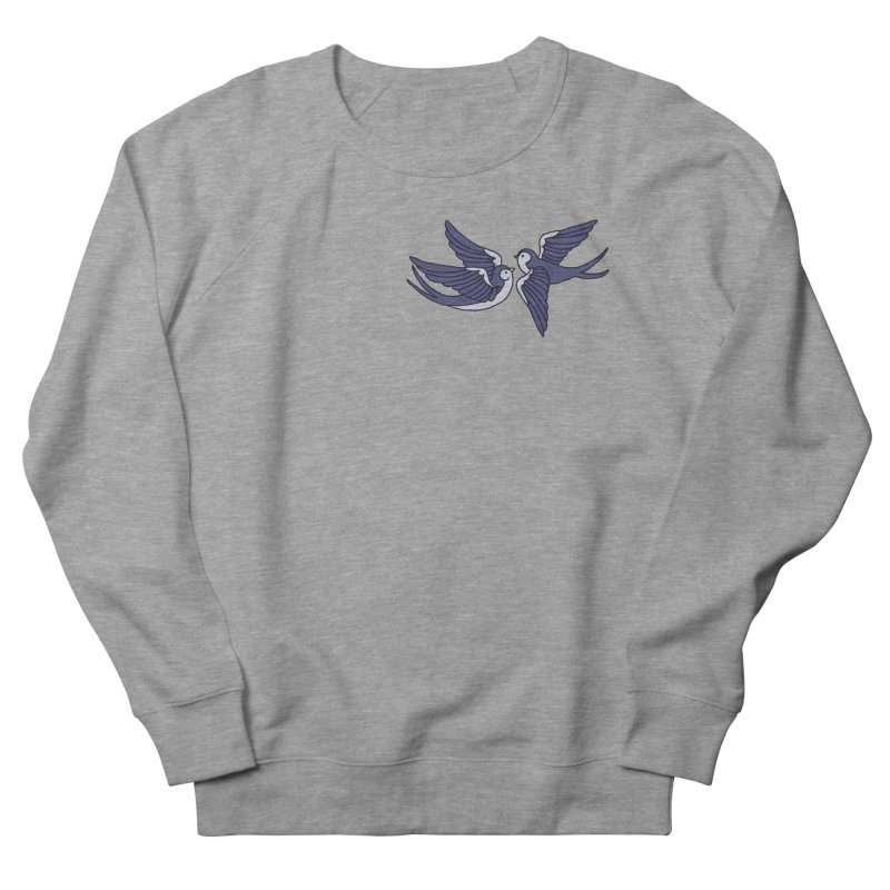 Swallows on white Women's French Terry Sweatshirt by Hello Siyi