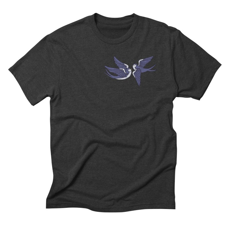 Swallows on white Men's Triblend T-Shirt by Hello Siyi