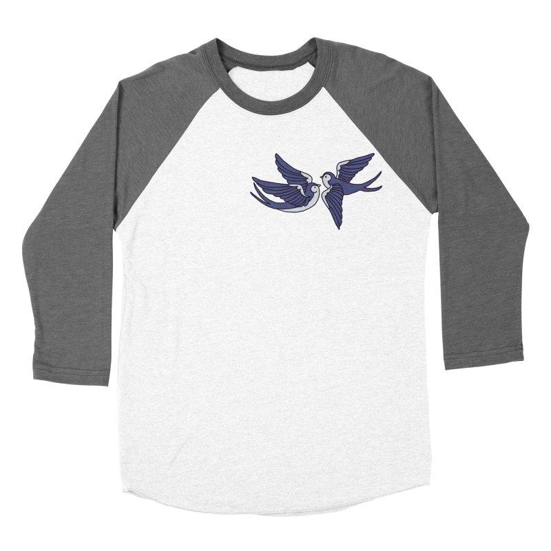 Swallows on white Men's Baseball Triblend Longsleeve T-Shirt by Hello Siyi