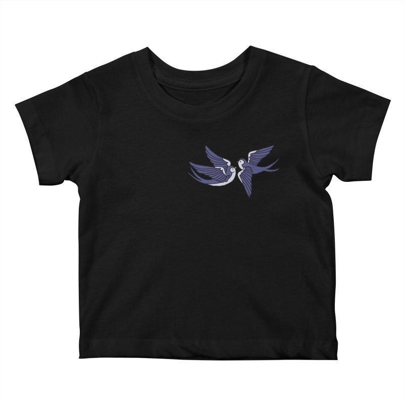 Swallows on white Kids Baby T-Shirt by Hello Siyi