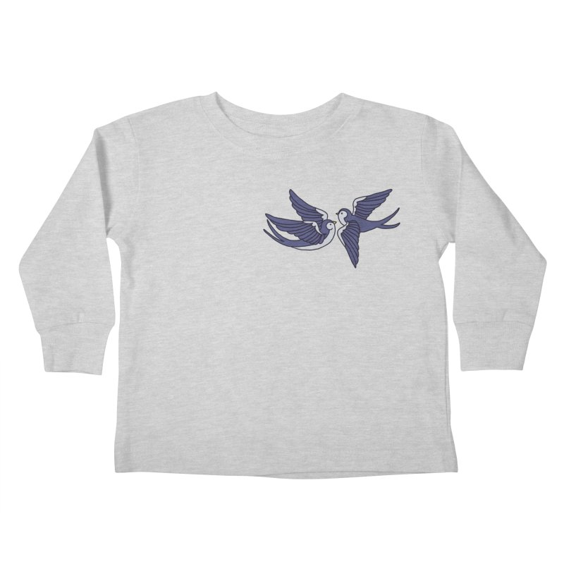 Swallows on white Kids Toddler Longsleeve T-Shirt by Hello Siyi