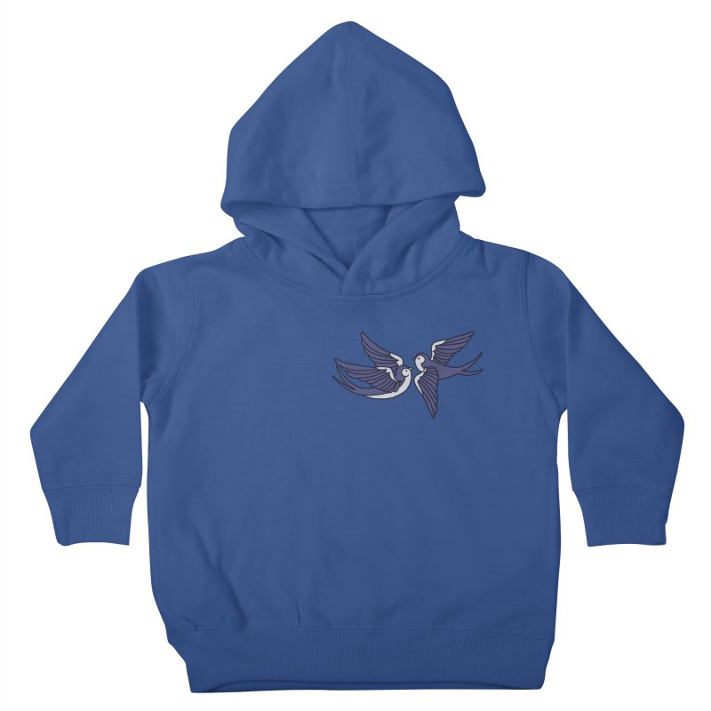 Swallows on white Kids Toddler Pullover Hoody by Hello Siyi