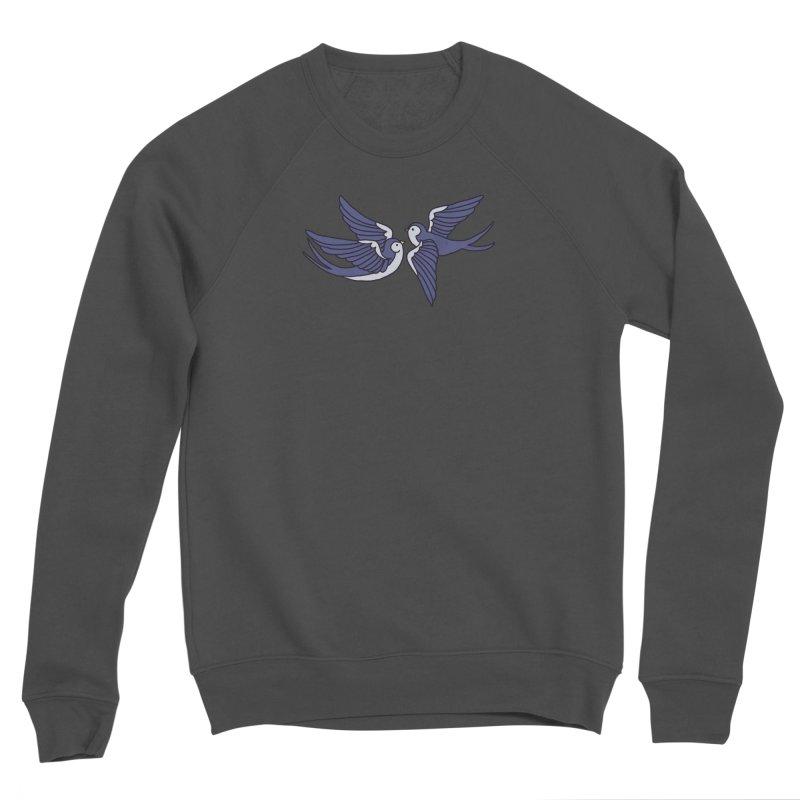 Swallows on white Men's Sponge Fleece Sweatshirt by Hello Siyi