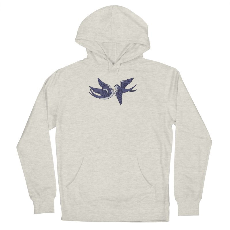 Swallows on white Men's French Terry Pullover Hoody by Hello Siyi
