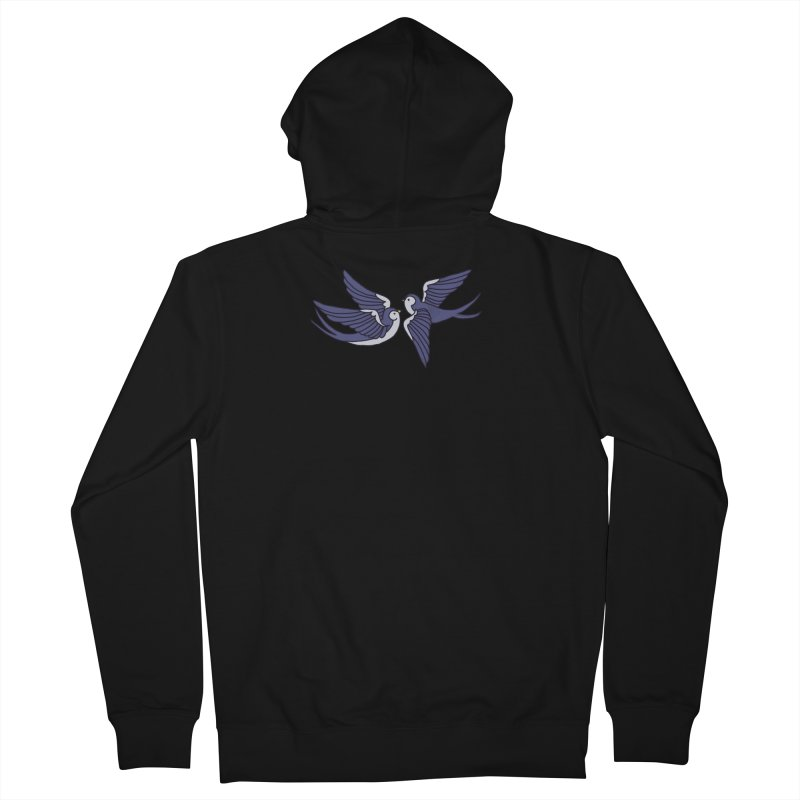 Swallows on white Men's French Terry Zip-Up Hoody by Hello Siyi