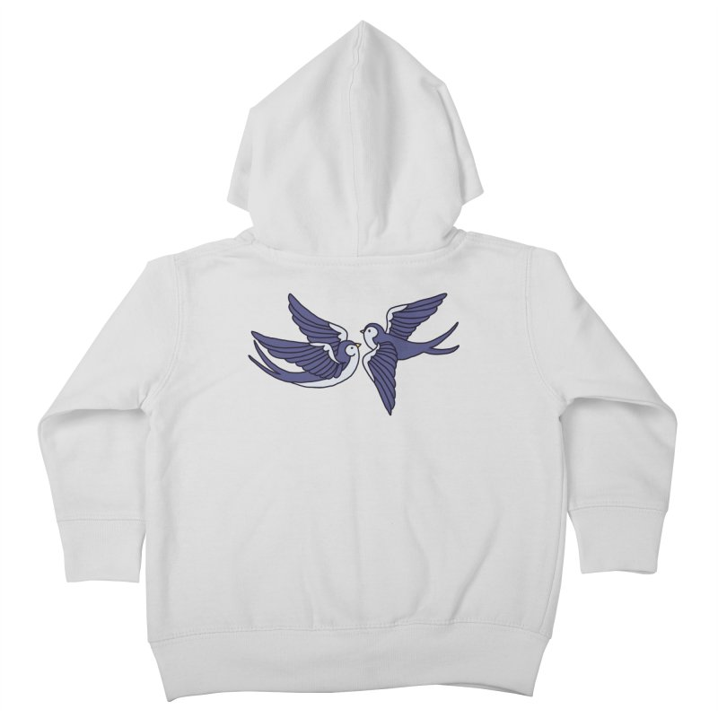 Swallows on white Kids Toddler Zip-Up Hoody by Hello Siyi
