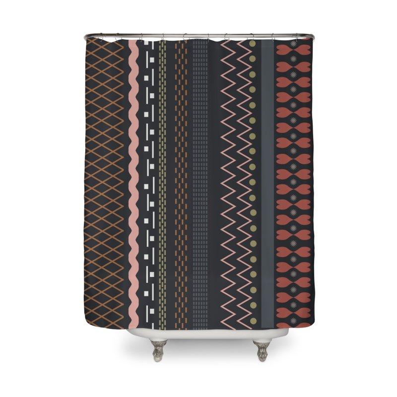 Folk pattern Home Shower Curtain by Hello Siyi