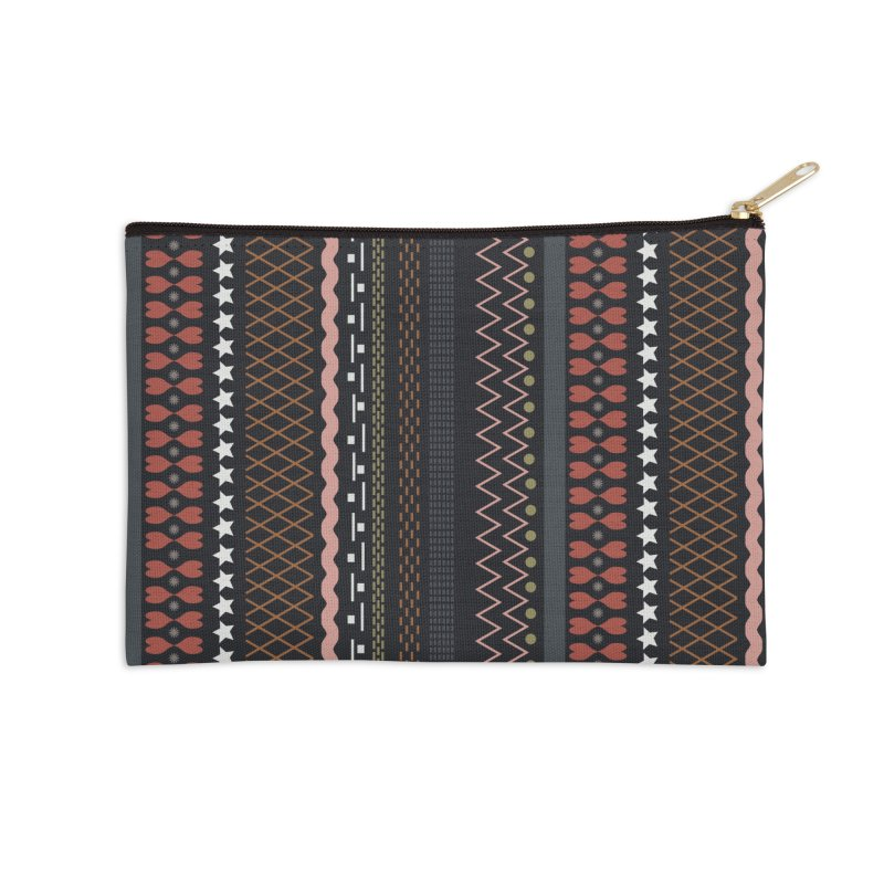 Folk pattern Accessories Zip Pouch by Hello Siyi