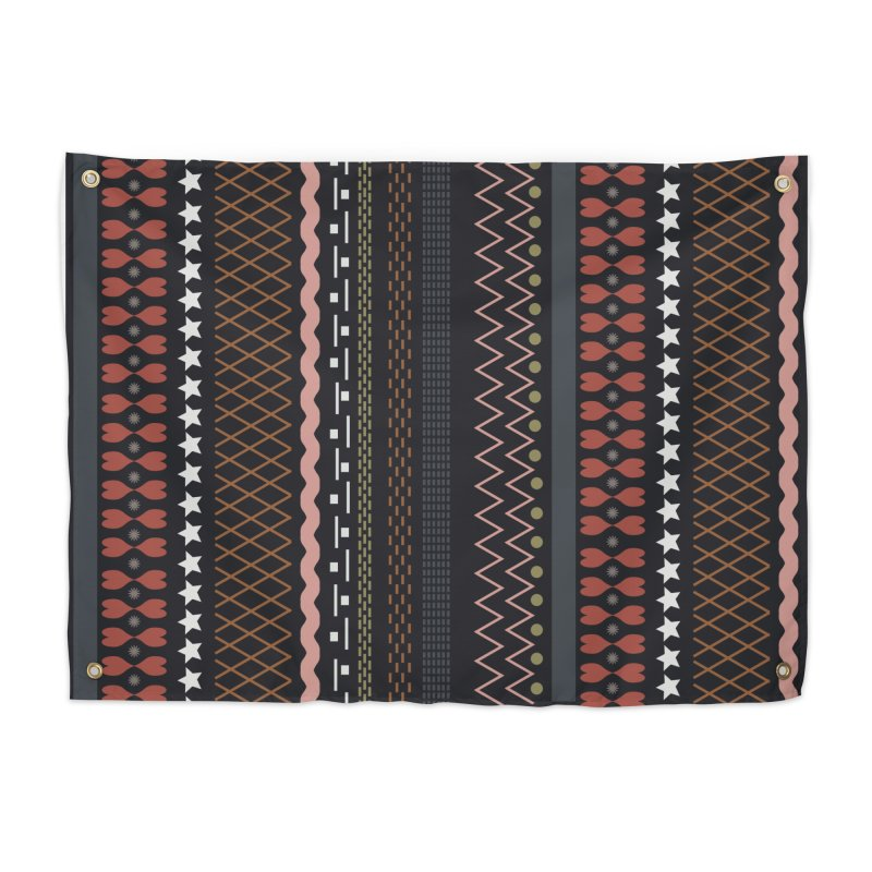 Folk pattern Home Tapestry by Hello Siyi