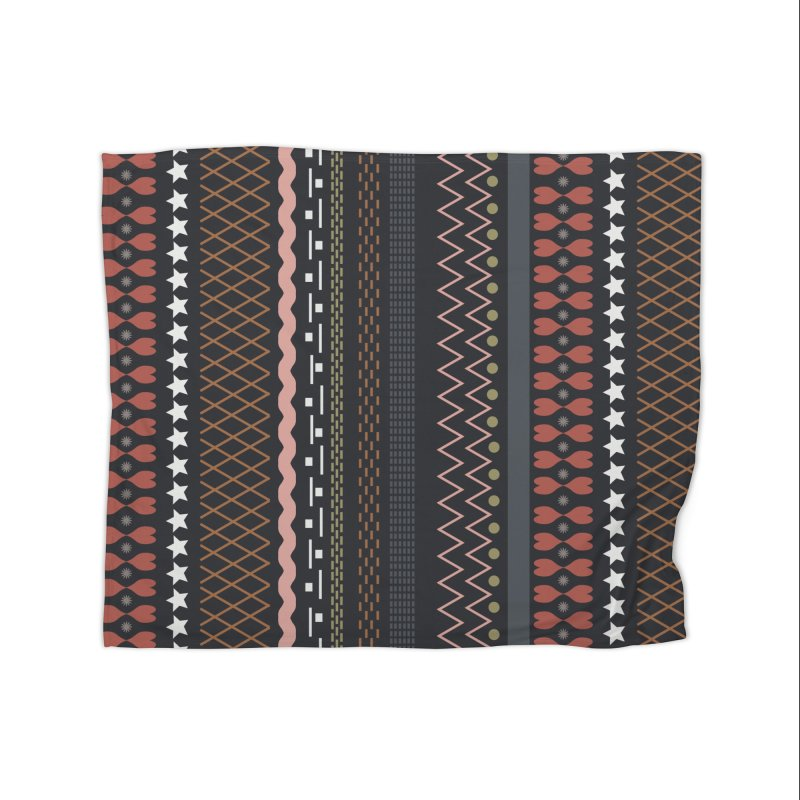 Folk pattern Home Blanket by Hello Siyi