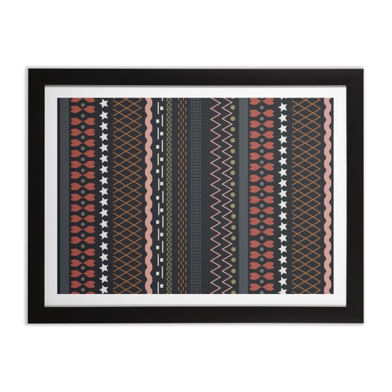 Folk pattern Home Framed Fine Art Print by Hello Siyi