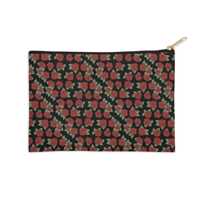 Bloody roses on black Accessories Zip Pouch by Hello Siyi