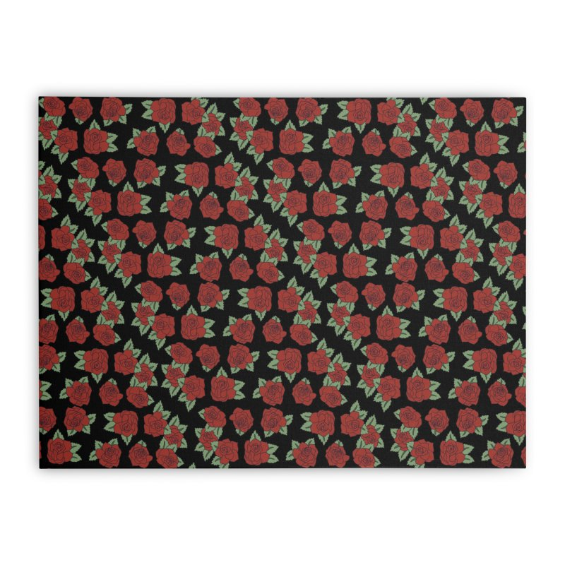Bloody roses on black Home Stretched Canvas by Hello Siyi