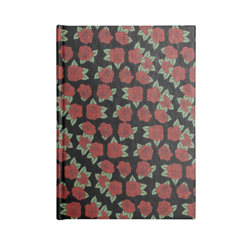 Bloody roses on black Accessories Notebook by Hello Siyi