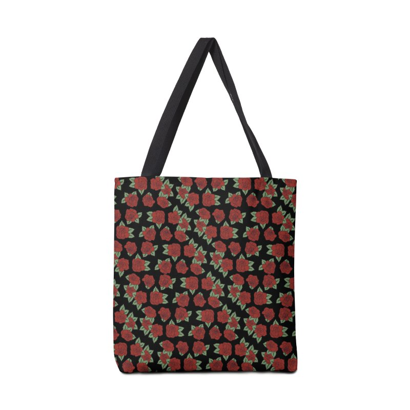 Bloody roses on black Accessories Bag by Hello Siyi