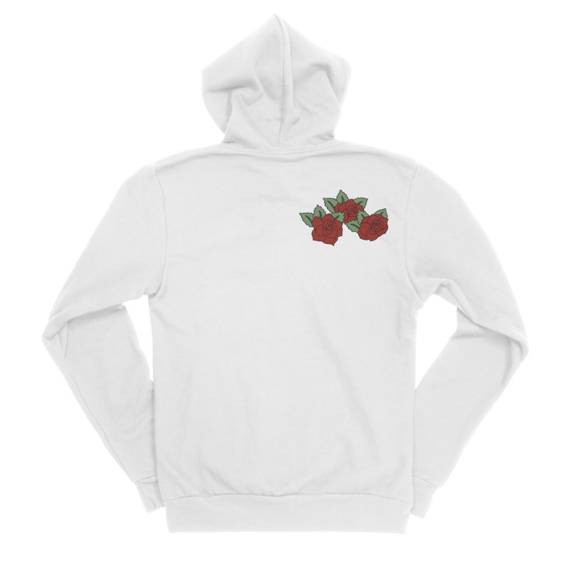 Bloody roses on black Men's Sponge Fleece Zip-Up Hoody by Hello Siyi