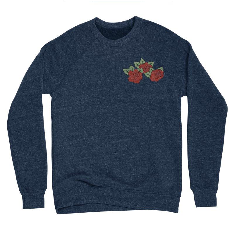 Bloody roses on black Men's Sponge Fleece Sweatshirt by Hello Siyi