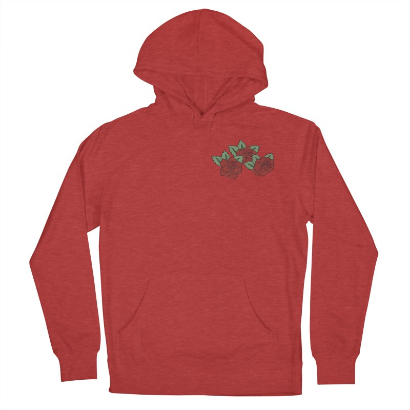 Bloody roses on black Women's French Terry Pullover Hoody by Hello Siyi