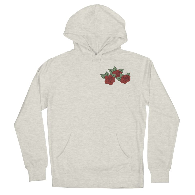 Bloody roses on black Men's French Terry Pullover Hoody by Hello Siyi